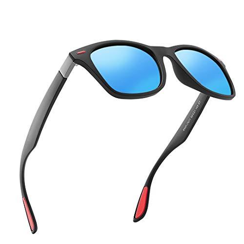 DOVAVA Gafas de sol Hombre Polarizado Protección UV Conducir Gafas de sol Ciclismo (Azul)