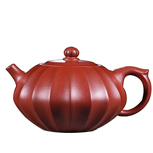 ADSE Teapot Tea Cup Big Red Teapot Hand-Flap Turbot Pot Oriental Purple Tea Maker Sand Pot (Color : Big crimson Pouch)
