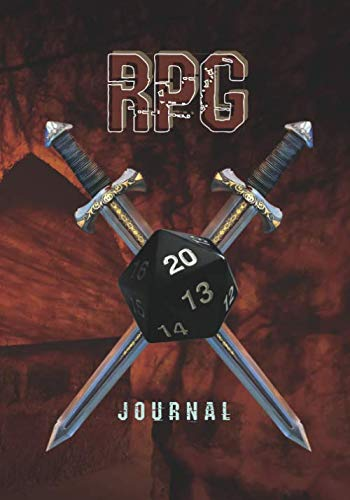 RPG Journal: The Ultimate RPG Accessories for Role Playing Adventure Gamer; Included 5 Different Mixed Gaming Papers for Drawing of RPG Battle Grid; ... Dot Grid/ Hex/ College Ruled/ Half Mixed); V3