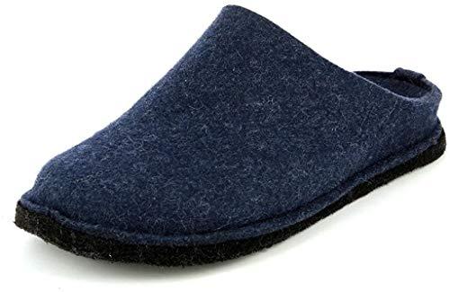 Haflinger Flair Soft Pantoffeln, Unisex-Erwachsene, Blau 44 EU