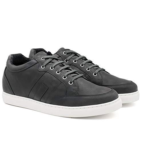 Zapatos de Hombre con Alzas Que Aumentan Altura hasta 7 cm. Fabricados en Piel. Modelo Ibiza A Gris 44