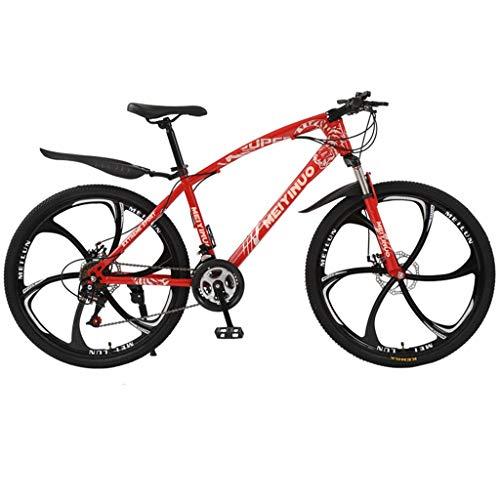 DIPOLA Outroad Mountainbike 21 Geschwindigkeit 26 Zoll Faltrad Doppelscheibenbremse Fahrräder (Red)