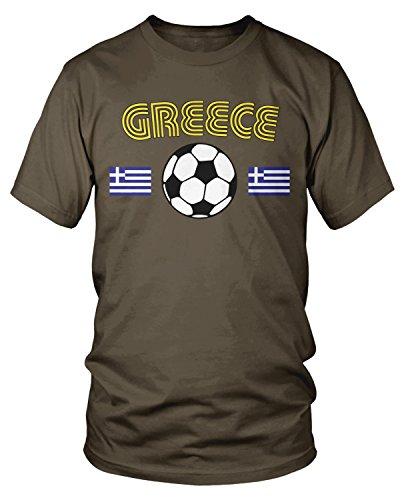 Amdesco - Camiseta de fútbol griego para hombre -  Marrón -  Large