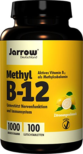 Natural Elements | Vitamine B12 | 1000 µg | 180 Tabletten | Actieve vormen | Veganistisch
