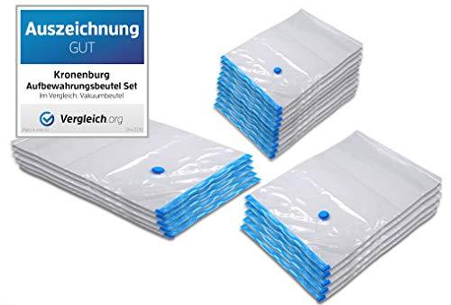 Kronenburg 20 tlg. Set Vakuumbeutel - Aufbewahrungsbeutel - Verschiedene Größen
