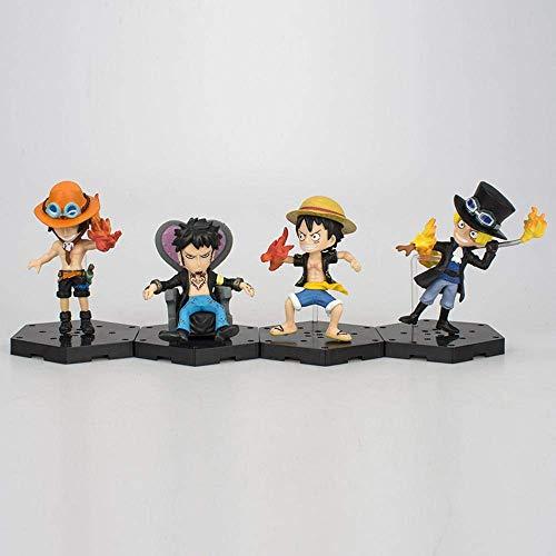 8 cm de una pieza de cuatro Sabo Luffy Ace Ley Personaje Personaje Muñecas figura de acción Colección animada modelo de la decoración estatua jianyou