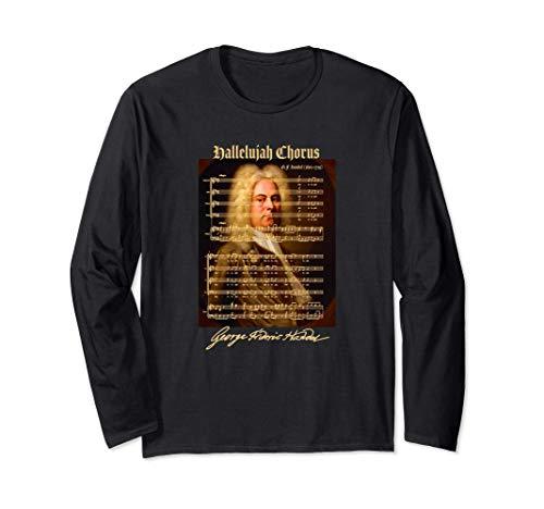 Halleluja Chorus Noten Partitur Porträt | Musikliebhaber Langarmshirt
