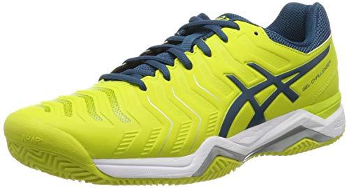 ASICS Herren Gel-Challenger 11 Clay Tennisschuhe, Mehrfarbig (Sulphur Spring/Ink Blue/Silver 8945), 46.5 EU