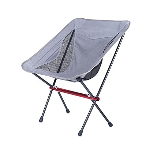 GO-AHEAD Silla Camping Camping Silla Plegable Silla Ligera portátil Senderismo Picnic BBQ Beach Sillas de Pesca al Aire Libre (Color : Gray)