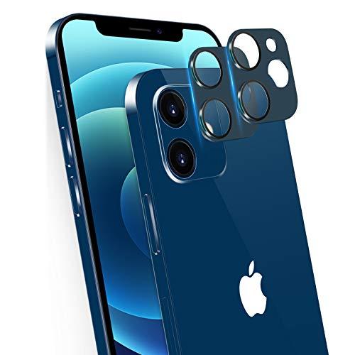 memumi [2 Pezzi 3D Lens Pellicola Fotocamera per iPhone 12 Mini, [9H Durezza][AntiGraffio] Vetro Temperato, Ultra Sottile [sugli Scatti Notturna Definizione] per iPhone 12 Mini 5.4'' - Blue(2020)