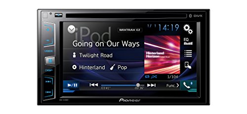 Pioneer AVH-X390BT - Pantalla Multimedia Doble, Bluetooth, pantalla táctil WVGA de 6.2' Clear Type, salida 4 V, color negro