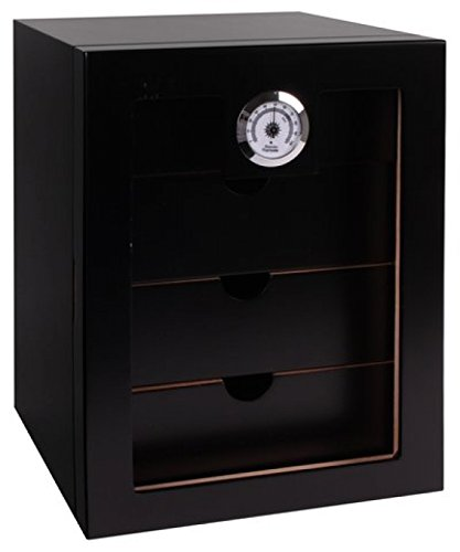 Humidorschrank Cabinet schwarz V-1350 inkl. Lifestyle-Ambiente Tastingbogen