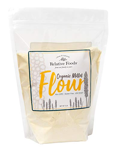 Millet Flour 3 pounds USDA Organic, certified gluten free, sourced 100% from the USA dry milled with no additives