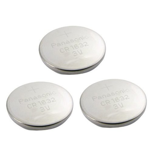 3pcs Panasonic CR1632 CR 1632 3v Coin Lithium Battery, REMOTE KEYLESS ENTRY TRANSMITTER FOB Battery , 2005-2012 by Panasonic