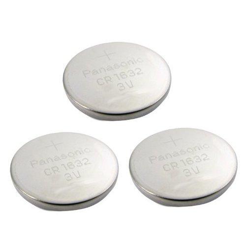 3pcs Panasonic CR1632 CR 1632 3v Coin Lithium Battery, REMOTE KEYLESS ENTRY TRANSMITTER FOB Battery , 2005-2012 by Panasonic