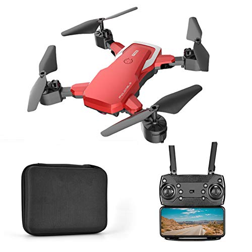 SZYM Drone with 4K HD Camera, WiFi FPV Real Time Transmission Drone,RC Foldable Quadcopter for Kids,Adults and Beginners,Red