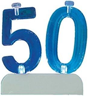 Flashing Number 50 Cake Topper & Birthday Candle Set, 5pc