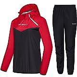HOTSUIT Trajes de Sudoración Mujer Sauna Traje Pérdida de Peso Gimnasio Entrenamiento Fitness Trajes de Sudor Chaqueta Pantalón, Rojo, XL