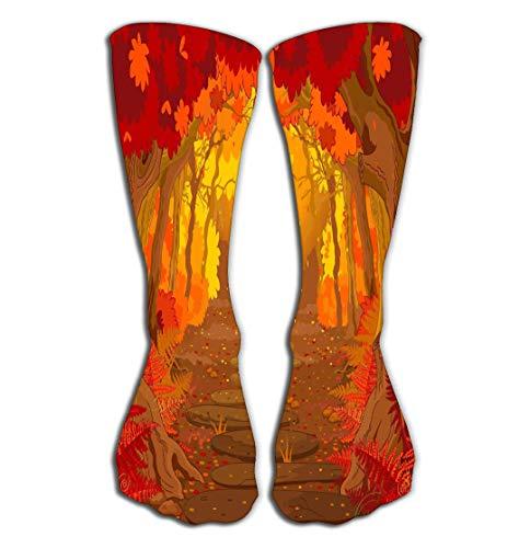 zexuandiy Hohe Socken Women's Girls Men's Novelty Socks Funny Boot Sock 19.7