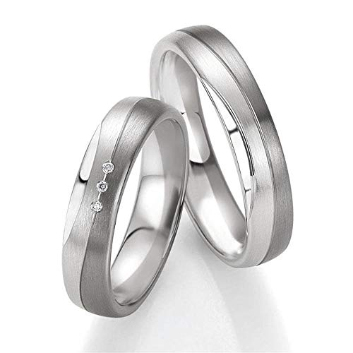 CORE by Schumann Design Trauringe/Eheringe aus 925 Silber/500 Palladium mit echten Diamanten GRATIS Gravur 19006202