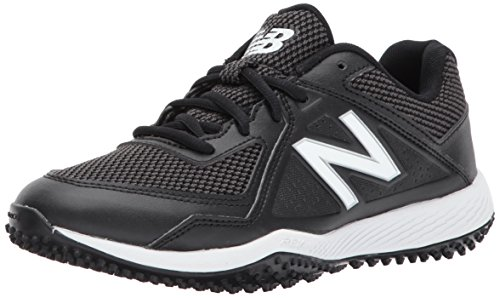 New Balance Kid's 4040 V4 Turf Baseball Shoe, Black/Black, 2.5 M US Little Kid