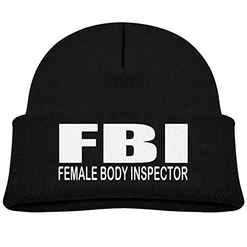 Female Body Inspector Sombrero de Invierno Unisex para niños, Gorro Suave y cálido para niños, Gorro de Elasticidad para niñas, Gorro de Cobertura para bebé