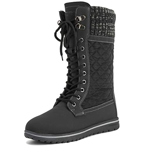 Polar Products Womens Tall Snow Warm Calf Waterproof Durable Outdoor Winter Rain Boots - 9 - BLK40 AYC0535