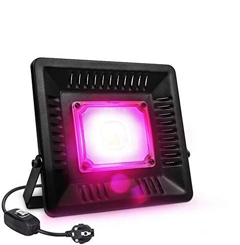 Lámpara de Planta, Relassy COB Lámpara de Planta Full Spectrum Planta Luz 50w con Enchufe de 1,7 m UE, IP67 Lámpara de Cultivo Impermeable para Plantas de Interior, Invernadero, Hidroponía