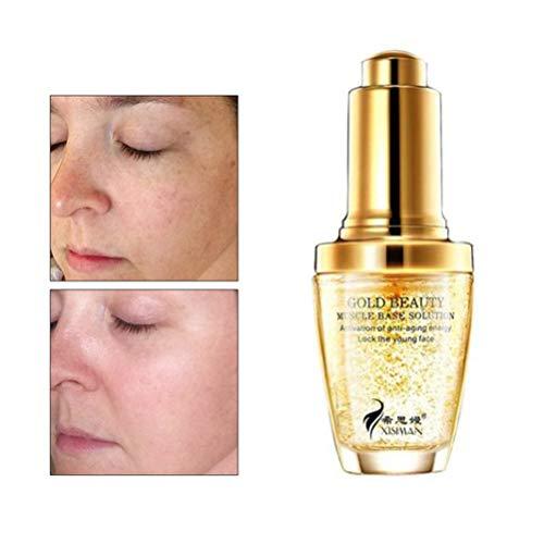 Crema de esencia antiarrugas, maquillaje de 24 quilates, esencia de oro de colágeno antiarrugas, hidratante, ácido hialurónico, líquido