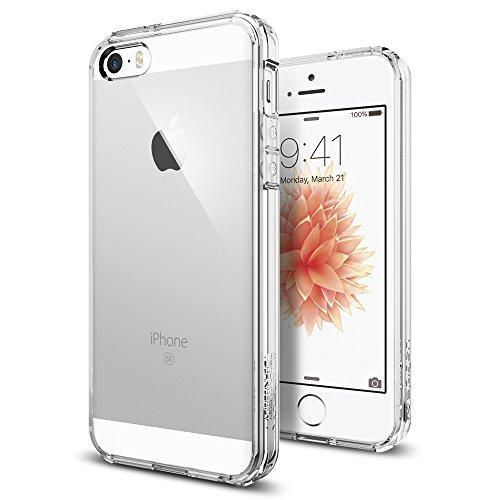 Spigen Ultra Hybrid Compatibile con Cover iPhone SE 2016 / Compatibile con Cover iPhone 5s - Trasparente