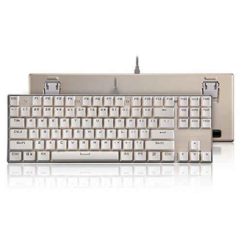 Preisvergleich Produktbild K87 Alle Aluminiumlegierung Gemischtes Licht Mechanische Tastatur Tragbarer 87 Knopf