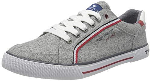 TOM TAILOR Herren 1180810 Sneaker, Grey, 43 EU