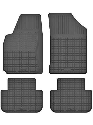 KO-RUBBERMAT - Tappetini in gomma con bordo da 1,5 cm, adatti per Alfa Romeo 147 (2000-2010), ideali per 4 pezzi