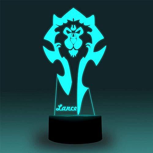 World of Warcraft - Lámpara de mesa LED 3D, accesorios para escritorio, cumpleaños, vacaciones, regalo de Halloween, decoraciones para niños, adolescentes y novios