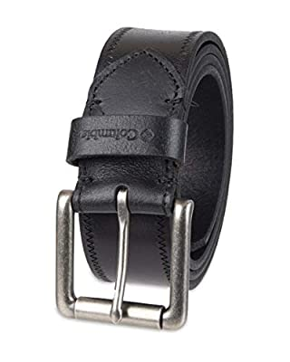 Columbia Men's Dress Prong Buckle Belt for Jeans Trousers, Black Casual, Extra Large (42-44)