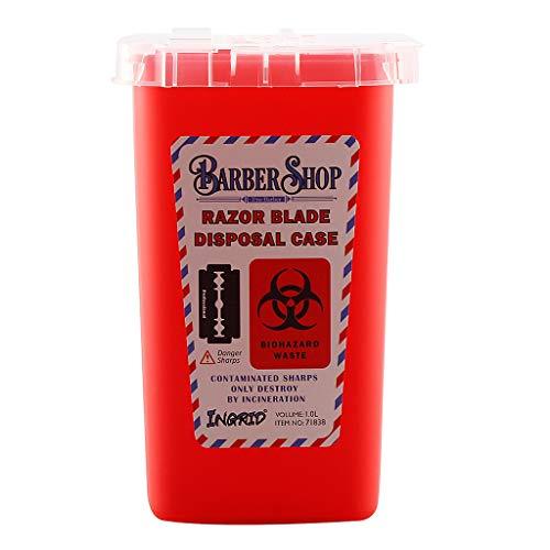 S-TROUBLE Mini Contenedor de residuos Caja Barber/ía Cuchillas Desechables Agujas Colector Contenedores de Almacenamiento Accesorios de Escritorio