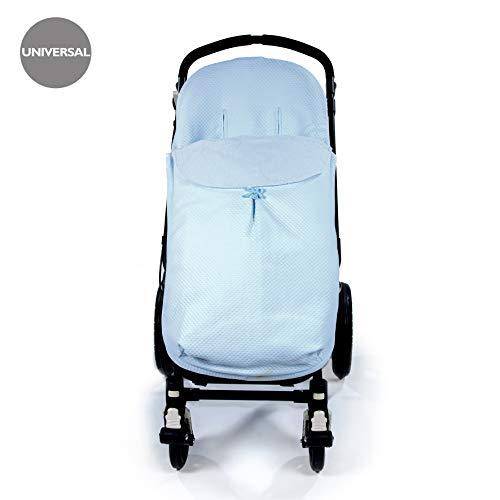 Pasito a pasito 73661 - Funda para silla de paseo universal con saco verano, diseño pique azul new cotton