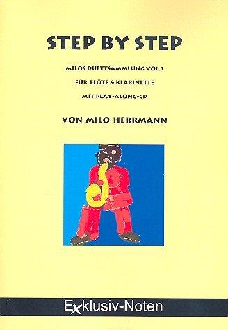 Step by Step (+CD) : für 2 Blasinstrumente Spielpartitur Flöte/Klarinette