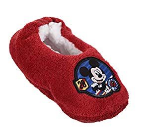 Mickey Mouse Boys Slippers Red