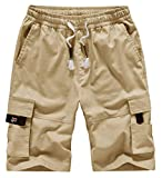 XinYangNi Women's Ease Into Comfort Modern Pull-On Bermuda Short with Pockets Khaki US 16-18