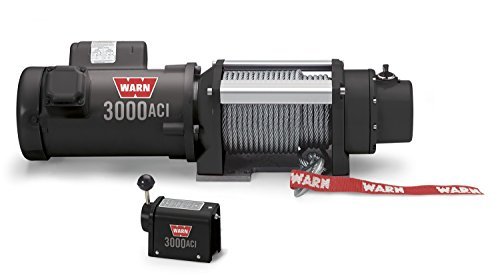 """WARN 93000 3000 ACI Series Electric 115/230V Winch with Steel Cable Wire Rope: 5/16"""" Diameter x 100' Length, 1.5 Ton (3,000 lb) Pulling Capacity"""