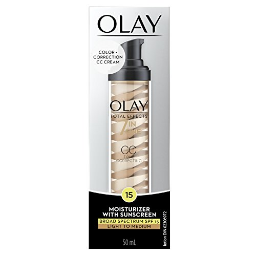 Olay CC Cream - Total Effects Tone Correcting Moisturizer with Sunscreen Broad Spectrum LSF 15 (Anti Aging & Tint) aus USA (Light To Medium)