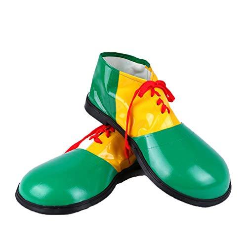 Ablerfly Halloween Props Supplies Zapatos de Payaso Disfraz de Payaso Novela Disfraz Zapatos de Payaso de Cuero de Halloween Fiesta de Halloween Guay bearable