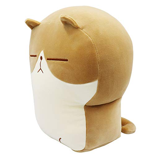 Auspicious beginning Stuffed Animal Bread Kitty Plush Toast cat Pillow Toy Anime Kawaii Soft Throw Pillow Doll, Cute Buddy Gifts for Boys Girls