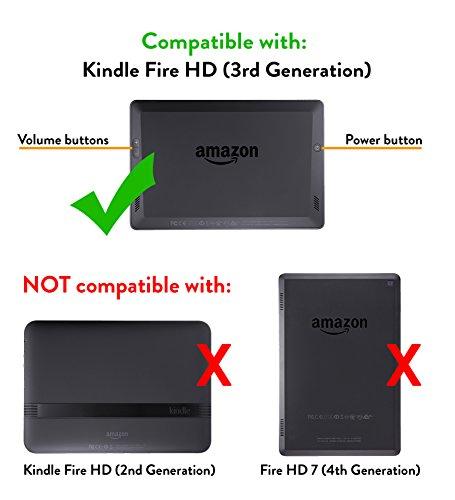 Amazon.com: Amazon Kindle Fire HD Standing Polyurethane Origami ... | 500x455