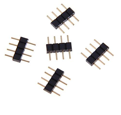 RoboMall 5X LED RGB SMD 4Poli Maschio Cavo connettore Adattatore accoppiatore Fue
