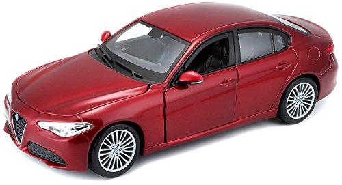 Bburago 15621080 - 1:24 Alfa Romeo Giulia Fahrzeug , farblich sortiert