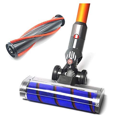 EZ Spares compatible con aspiradora, aspiradora inalámbrica DYS V7 V8 V10 V11 cepillo accesorio con 2 cepillos motorizados para suelo y alfombra, cabezal de motor, cabezal de...