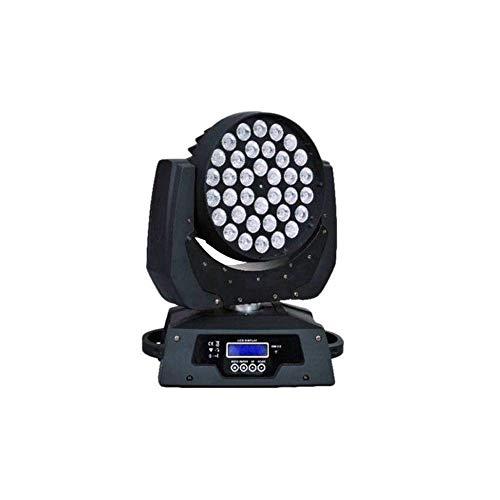 ZGYQGOO Cabezas móviles 4 en 1 Rgbw LED Stage LightZoom Head Disco Light Stage Efecto de Fiesta Beam Wash Mini Disco Light Wash Stage DMX 360W Iluminación para Interior Disco KTV Club