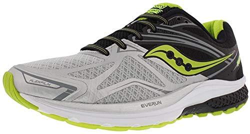 Saucony Ride 9, Zapatillas de Running Hombre, (Plata/Gris/Negro/Limón Amarillo), 42 EU